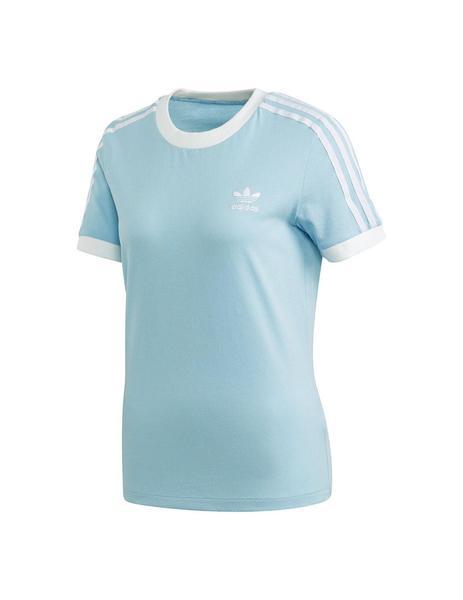 salir Omitir Varios  Camiseta Mujer adidas 3-Stripes Celeste