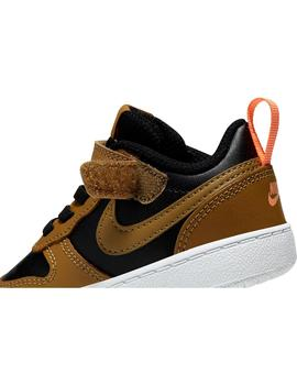 Zapatilla Niño Nike Court Borough Marron