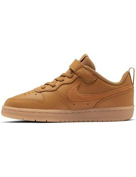 Zapatilla Niño Nike Court Borough Camel