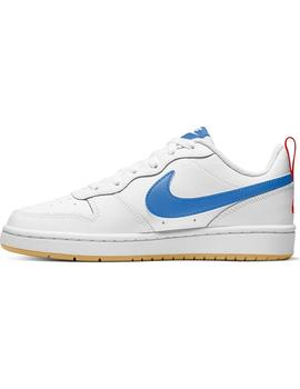 Zapatilla Niño Nike Court Borough Blanca