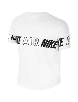 Camiseta Niña Nike Air Taping Blanca