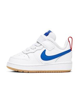 Zapatilla Baby Nike Court Borough Blanca