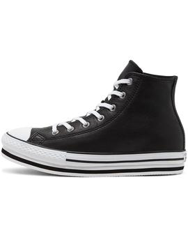 Zapatilla Niña Converse Leather All Star Plataf Ne