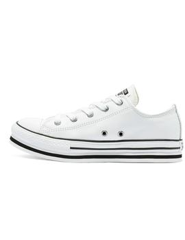 Zapatilla Niña Converse Leather Eva All Star Low Top Plat