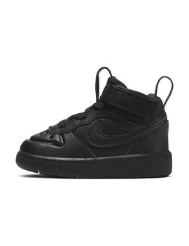 Zapatilla Niño Nike Court Borough Mid Negra