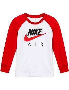 Volar cometa artería aislamiento  Camiseta Niño Nike Air Raglan Blanca