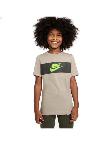Camiseta Niño Nike Tee Chest Panel Tricolor