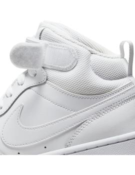Zapatilla Unisex Nike Court Borough Mid 2 Blanco