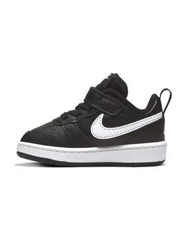 Zapatilla Baby Nike Court Borough Low 2 Negro