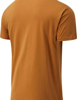Camiseta Hombre New Balance Essentials Terrain Grid Marrón