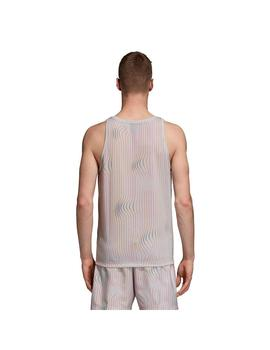 Camiseta adidas de Tirantes Warped Stripes Hombre