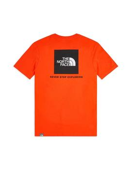 Camiseta Hombre The North Face Box Naranja