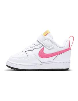 Zapatilla Niña Nike Court Borough Gris Rosa