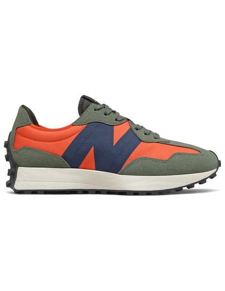 Zapatilla Hombre New Balance 327 Verde Naranja