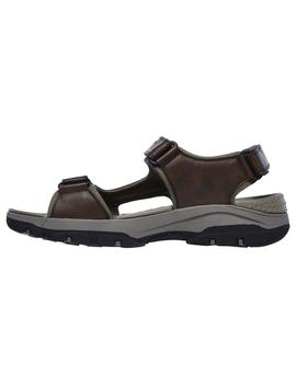 Sandalia Hombre Skechers Relaxed Fit Marron.