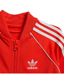 Chandal Baby adidas Sst Rojo