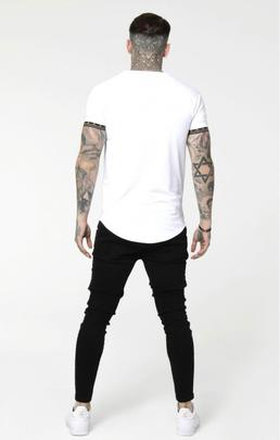 Camiseta Hombre SikSilk Scope Cartel Gym Blanca