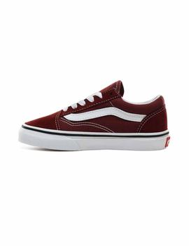 Zapatilla Junior Vans Old Skool Granate