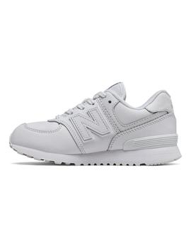 Zapatilla Junior New Balance GC574ERM Blanco