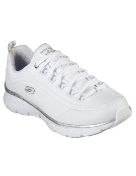 Zapatilla Mujer Skechers Synergy Wide Fit Blanco