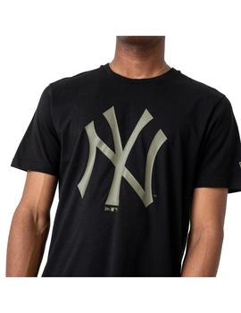 Camiseta Hombre New Era Mlb Seasonal NY Negra