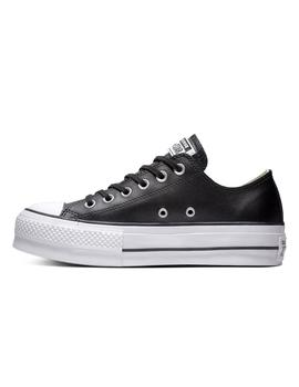 Zapatilla Mujer Converse All Star Lift Clean Leather L Negro