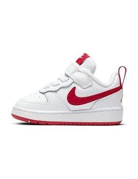 Zapatilla Unisex Nike Court Borough Low 2 Blanco/Rojo