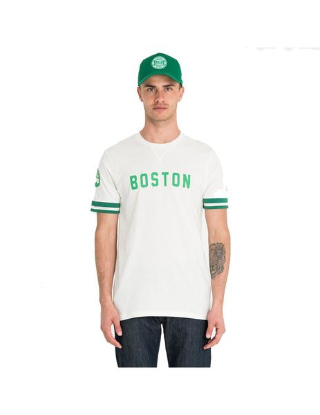 Camiseta Hombre New Era Boston Celtics Beige
