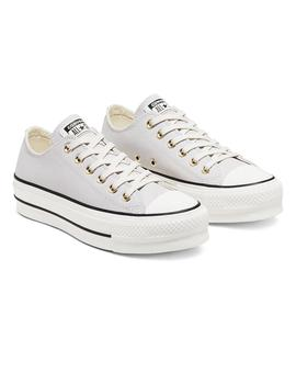 Zapatilla Mujer Converse All Star Platform Nubuck Low T Gris