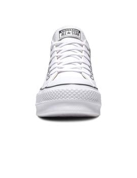 Zapatilla Mujer Converse All Star Lift Clean Leather Blanco