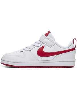 Zapatilla Unisex Nike Court Borough Blanco/Rojo