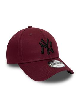 Gorra Hombre New Era Essential 940 NYY Granate Neg